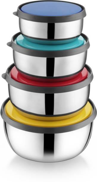 Ideale Fresca 4 pcs Multi Color Bowl Set Stainless Steel Storage Bowl