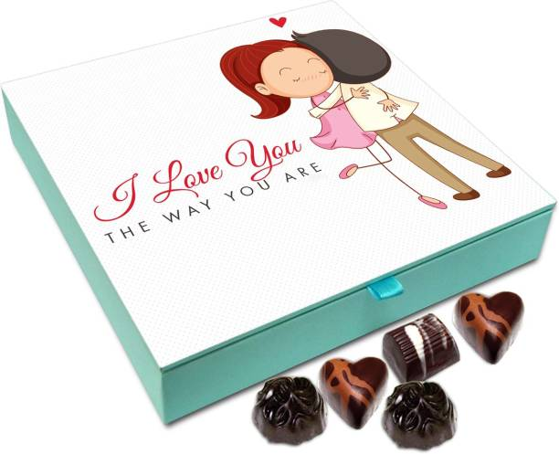 Chocholik Gift Box - The Love You The Way You Are Chocolate Box - 9pc Truffles