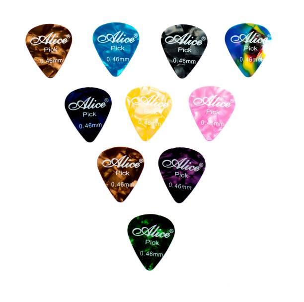 Ebullient Art Multicolor Assorted Guitar Picks .46mm Set of 10 Guitar Pick
