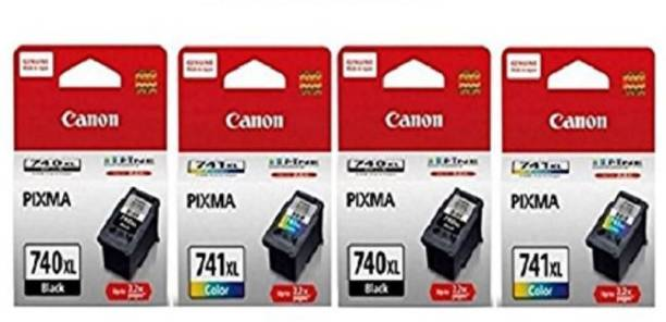 Canon 740 XL Twin   741 XL Twin [Set of 4] Multi Color Ink Cartridge Magenta, Black, Yellow