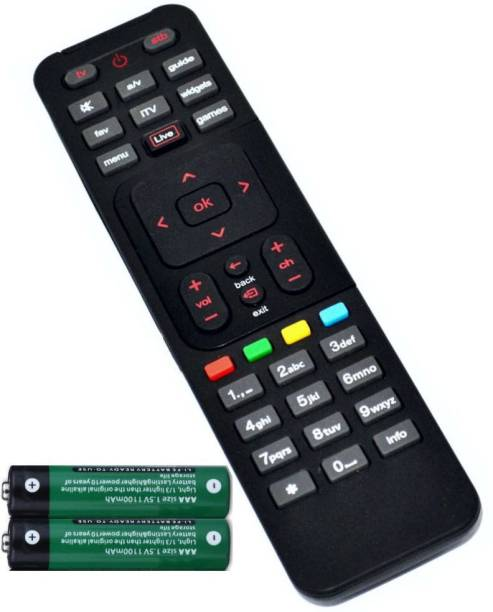 FineArts DTH Set Top Box Remote Controller with 2 Pcs Battery of 1.5 V Compatible for