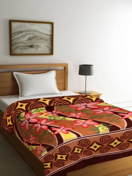 Flipkart SmartBuy Floral Single Coral Blanket