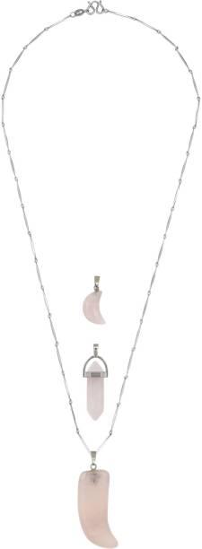 Bijou vertex artificial jewellery buy bijou vertex artificial bijou vertex pink quartz stone pack of 3 pendant quartz copper necklace aloadofball Gallery