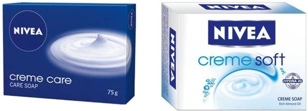 NIVEA CREME SOFT CREME SOAP 75 GM + CREME CARE SOAP 75 GM