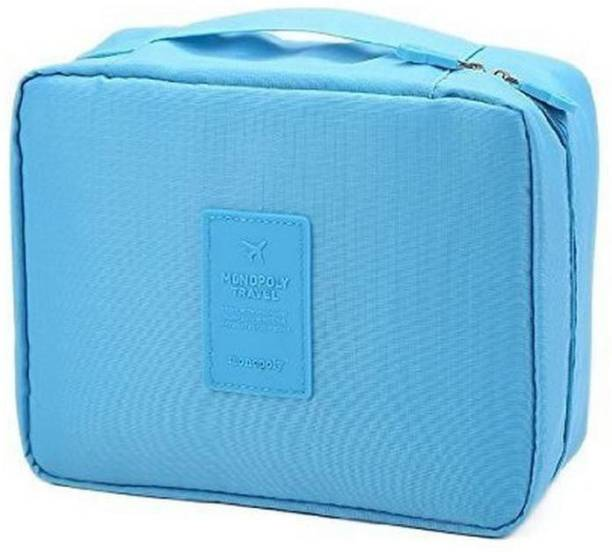 c292a84b83 Styleys Styleys Nylon Light Blue Luggage Cosmetic Case Travel Toiletry Kit
