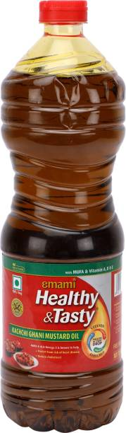 EMAMI Healthy & Tasty Kachchi Ghani Mustard Oil Plastic Bottle