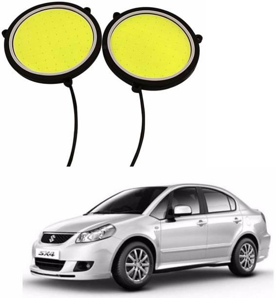 Auto Garh Round Drl Fog Lamp Backup Interior White Led For Maruti Sx4