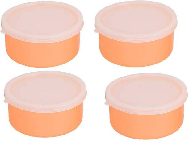 Lush Carrolite Combo Pack of 2 orange Plastic Container 4 Containers Lunch Box