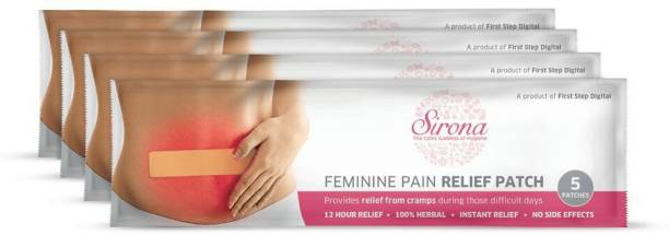 0a9a958b34 SIRONA Feminine Pain Relief Patches - 20 Patches (4 Pack, 5 Patches each)