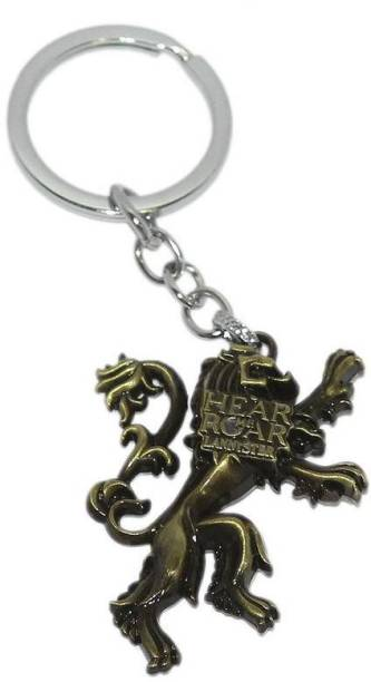 Aura Imported Double Sided Metal Hear Me Roar Game Of Thrones Key Chain