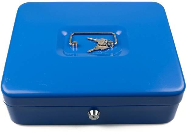 "Sukot Large Cash Locker Security Key Lock Cash Box Petty Cash Holder For Office Shop Locker Size - 10"" Safe Locker"