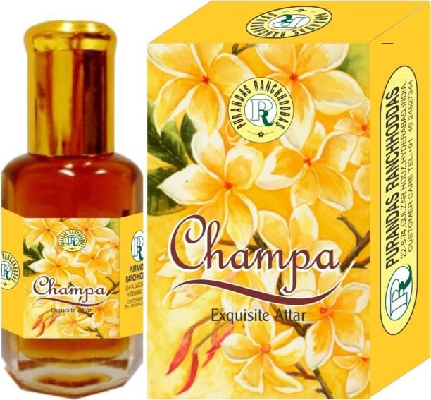 Purandas Ranchhoddas PRS Champa Attar Eau de Parfum  -  10 ml