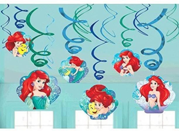 78e2ef5a81e7 The Little Mermaid Disney Little Mermaid Ariel Dream Big Party Foil Hanging  Swirl Decorations Spiral Ornaments