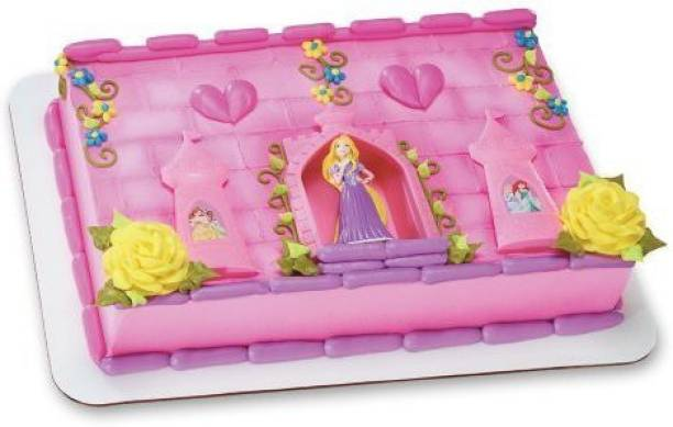 DecoPac Disney Princess Rapunzel And Castle Decoset Cake Topper