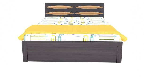 UNICOS Bostan King Bed With Storage Engineered Wood King Box Bed
