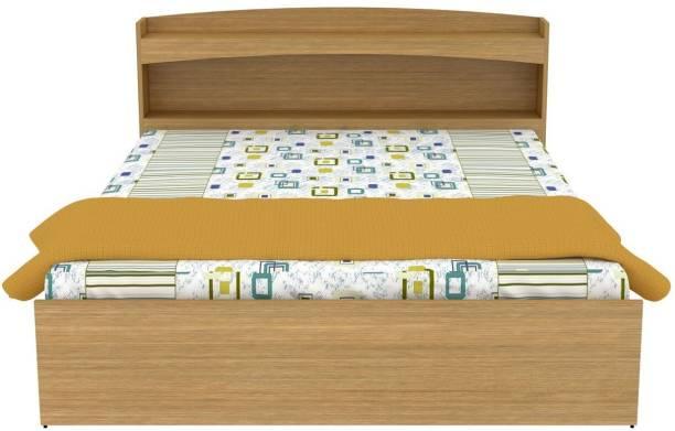 UNICOS Spiro Queen bed Without Storage Engineered Wood Queen Bed