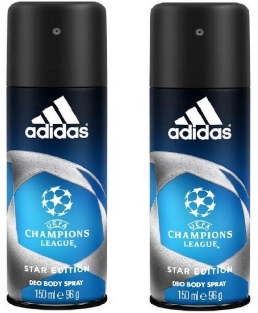 ADIDAS Champions League Deodorant Body Spray Pack of 2 (150ML each) Combo Deodorant Spray  -  For Men