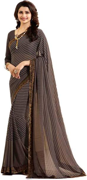 0fb103a8cc2974 Bombey Velvat Fab Printed, Paisley Daily Wear Poly Georgette, Chiffon Saree