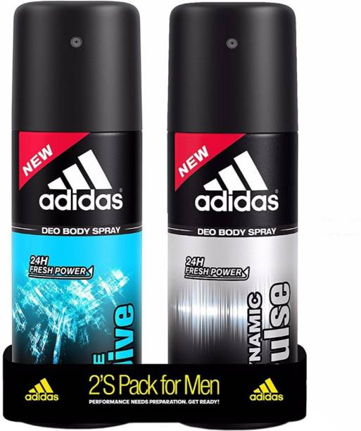 ADIDAS Dynamic Pulse & Ice Dive Deodorant Spray  -  For Men