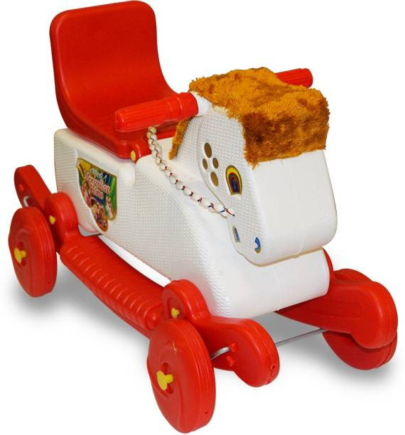 Akshat Rider Horse 2-In-1 Rocker Cum Ride-On Toy For Kids Rideons & Wagons Non Battery Operated Ride On