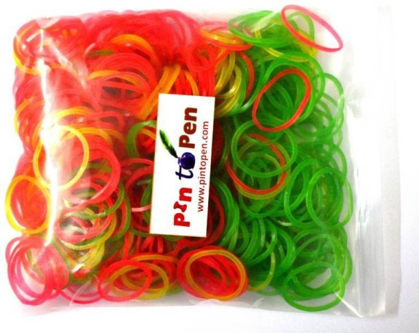 100 pcs Super Strong Office Multi-purpose Blue /& Red Elastic Rubber Bands