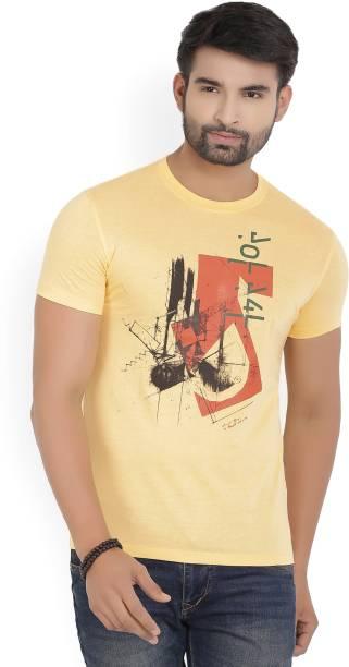 748b858e82e Van Heusen Sport Graphic Print Men Round Neck Yellow T-Shirt