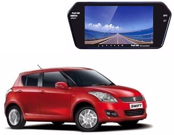 Auto Garh Rear View Mirror 7 Inch Monitor Camera ForSwift Black LED