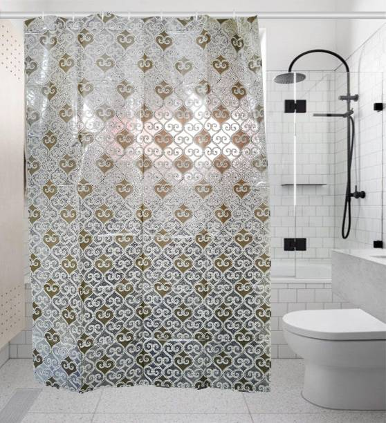 Khushi Creation 82 Cm 3 Ft PVC Shower Curtain Single