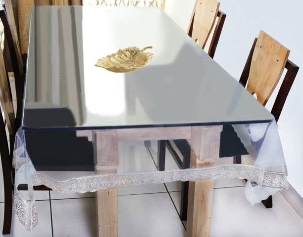Yellow Weaves Solid 6 Seater Table Cover