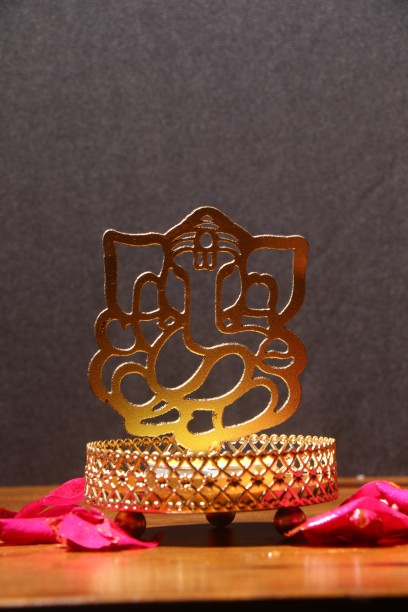 ECraftIndia Lord Ganesha Tea Light Holder Aluminium Tealight Holder