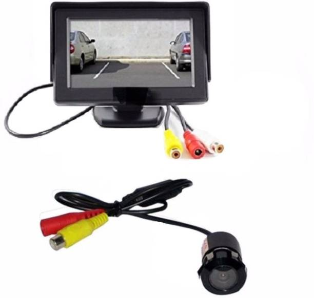 Auto Garh MBC36A TFT Monitor with LED Reverse Parking Camera For Accord Black LCD