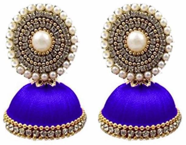 883231e333 Multiline Company Silk Thread Fashion Jimiki Earring Silk Dori Jhumki  Earring