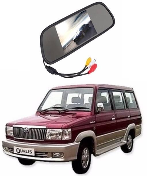 Auto Garh Rear View Mirror Camera Monitor WITH 1YR WARRANTY For Qualis Multicolor LED