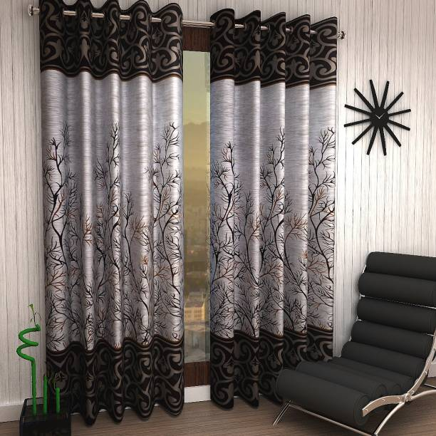 brown window curtains plain home sizzler 153 cm 5 ft polyester window curtain pack of 2 and door curtains online at best prices on flipkart