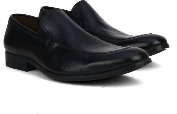 c818746cdd8 Clarks Banfield Step Black Leather Slip On For Men