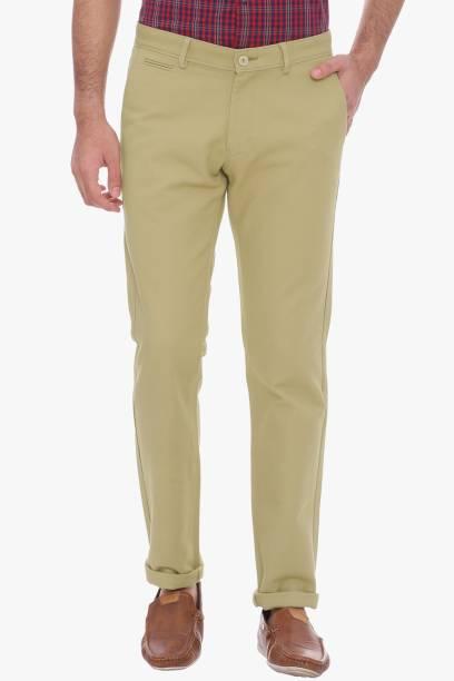 BASICS Tapered Men Gold Trousers