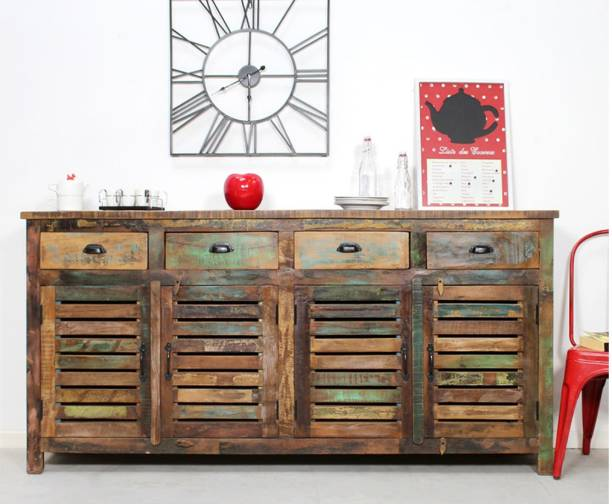 THE ATTIC Sheesham Wood Solid Wood Free Standing Sideboard