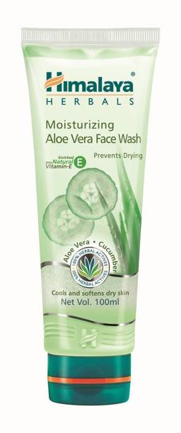 HIMALAYA Herbals Moisturizing Aloe Vera ,100ml Face Wash