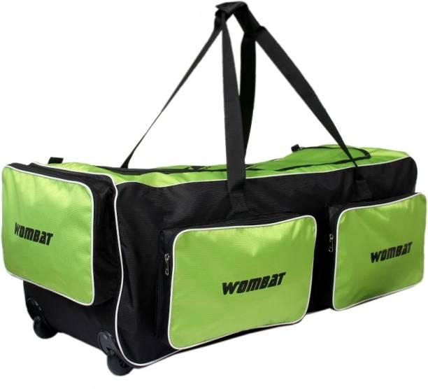 2d560cd43e Wombat Green  Black Polyester Cricket Wheelie Kit Bag   Cricket Kit bag  with Wheel Wheelie