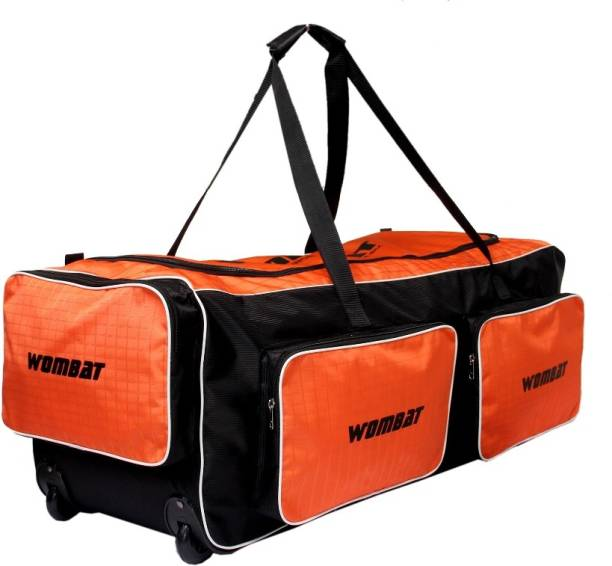 Wombat Orange Black Polyester Wheelie cricket Kit bag   Cricket Kit bag  With Wheel sport 20a58bf17eb91