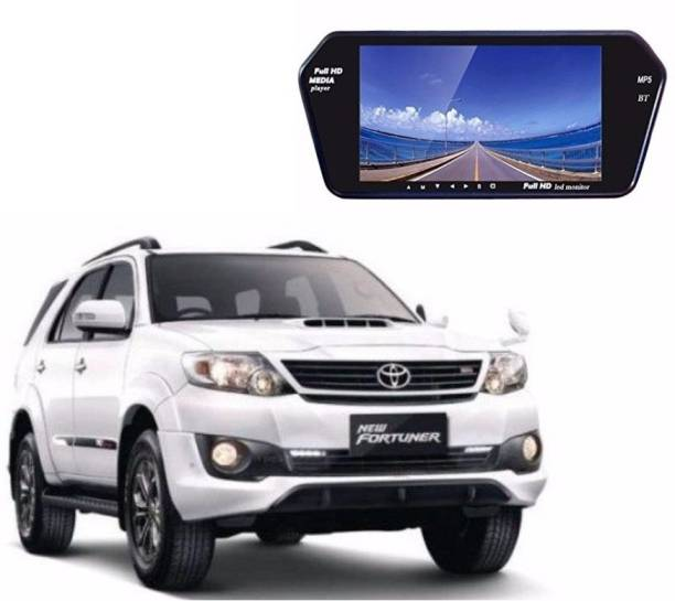Auto Garh 7 Inch Bluetooth Screen Monitor For Fortuner Black LED