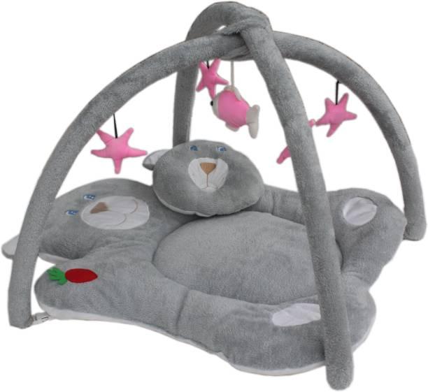 AMARDEEP Baby Playgym Cum Bedding, Grey
