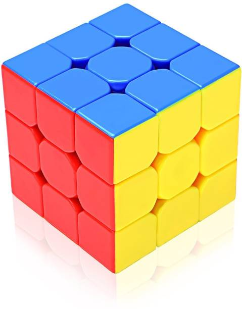 EMOB Stickerless 3x3x3 High Speed Magic Cube Puzzle Toy