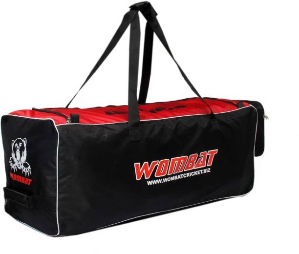 Wombat Red Black Wheelie Cricket Kit bag   Cricket kit Bag With Wheel  Cricket Kit 09a5f35808d70