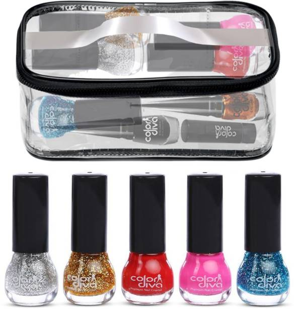 Color Diva Combo Set Nail Paint and Makeup Pouch