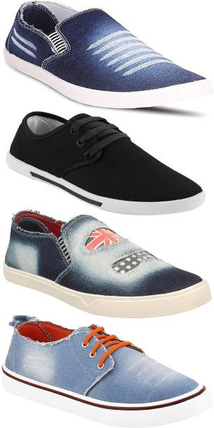 Chevit Men S Combo Pack Of 4 Comfort Loafers Sneakers For