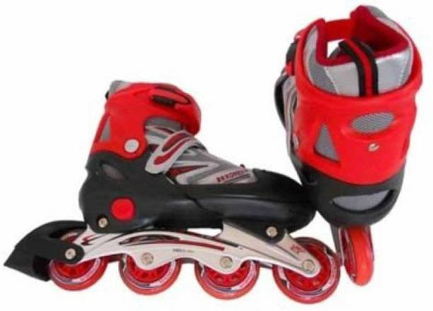 Konex Adjustable Shoes Inline Skates (Small) Red In-line Skates - Size 4.5-7.5 UK