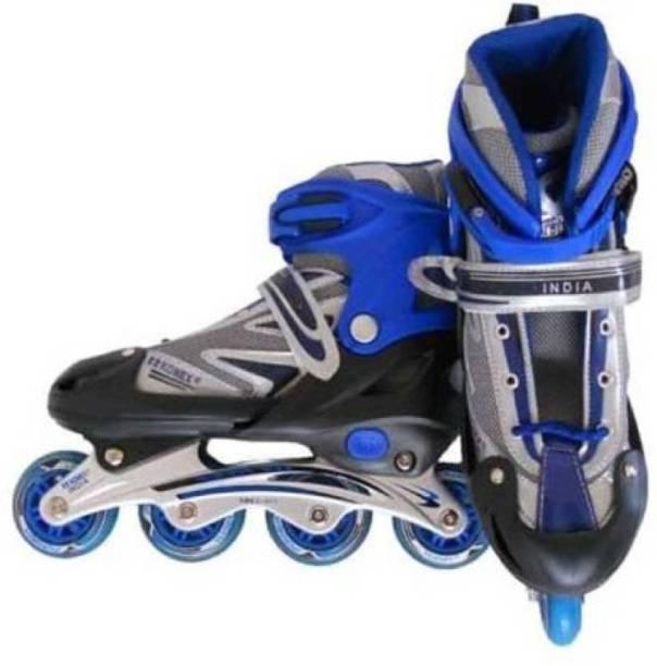 Konex Adjustable Shoes Inline Skates (Small) Blue In-line Skates - Size 4.5-7.5 UK