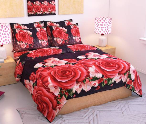 Wacky 144 TC Microfiber Double Floral Bedsheet