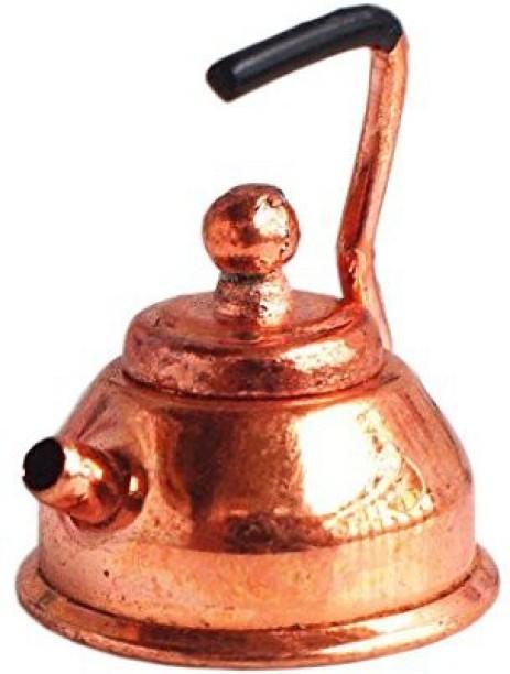 Dollhouse Miniature Copper Coffee Tea Kettle Pot Teapot Lid Kitchen Decor 1:12